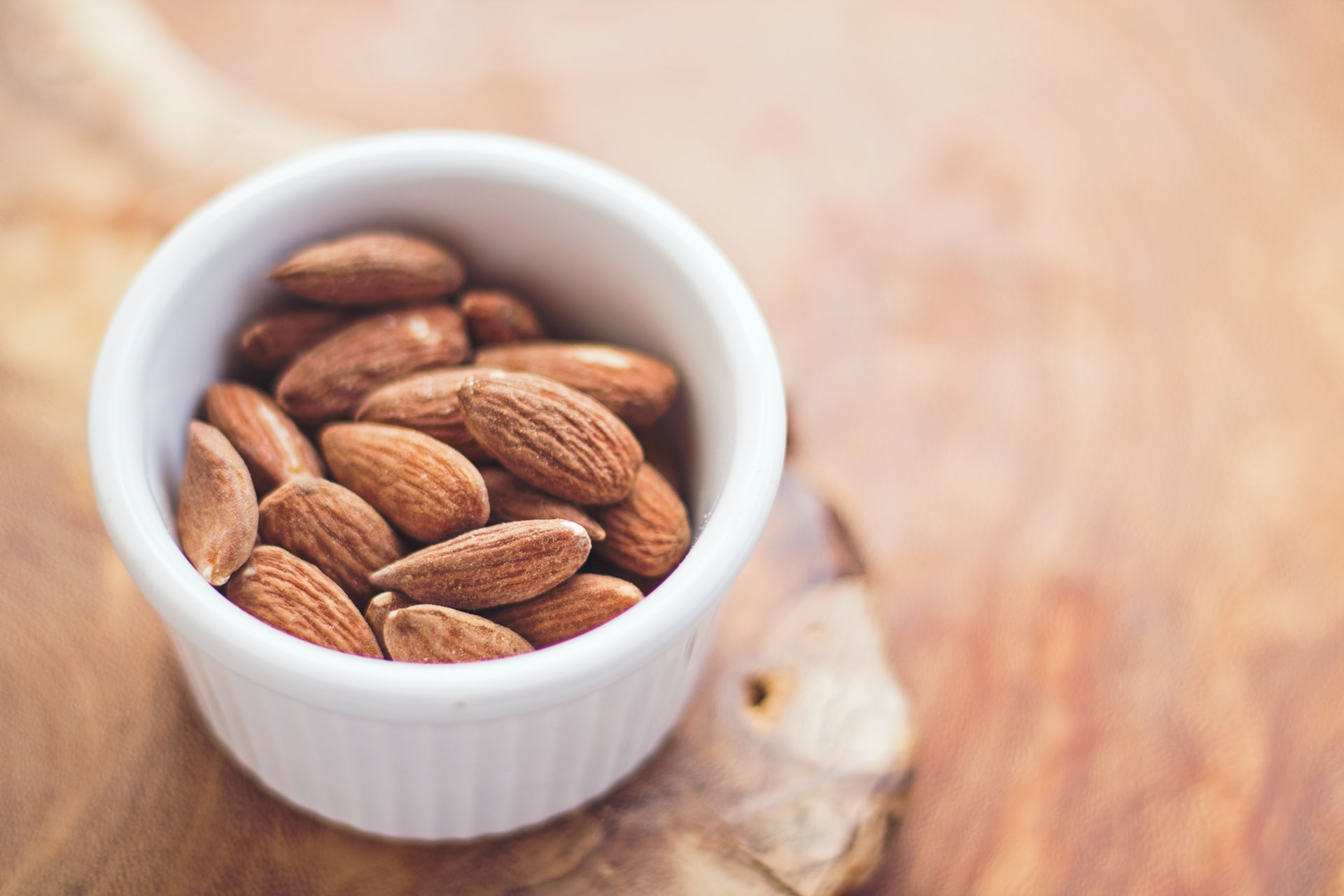 Healthy bowl of almonds to encourage nutritional eating